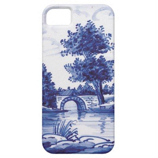 Teja azul tradicional holandesa funda para iPhone SE/5/5s