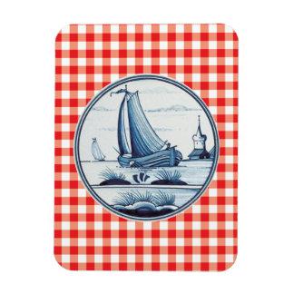 Teja azul tradicional holandesa iman de vinilo