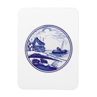 Teja azul tradicional holandesa imán de vinilo
