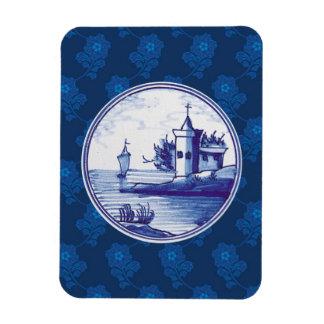 Teja azul tradicional holandesa iman flexible