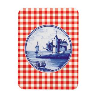 Teja azul tradicional holandesa imanes de vinilo