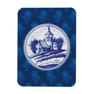 Teja azul tradicional holandesa imanes flexibles