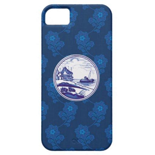 Teja azul tradicional holandesa iPhone 5 cárcasas