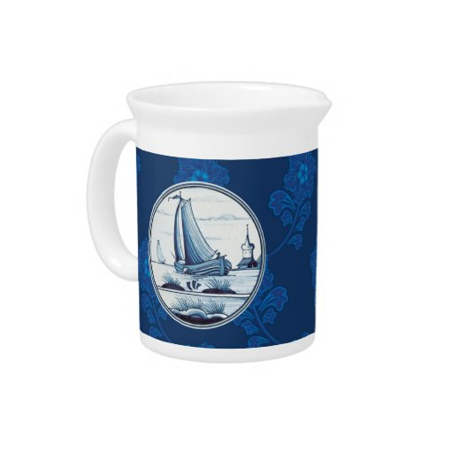 Teja azul tradicional holandesa jarra para bebida