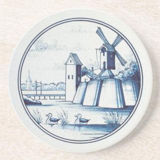 Teja azul tradicional holandesa posavasos para bebidas