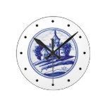Teja azul tradicional holandesa reloj