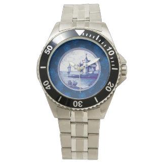 Teja azul tradicional holandesa relojes de mano