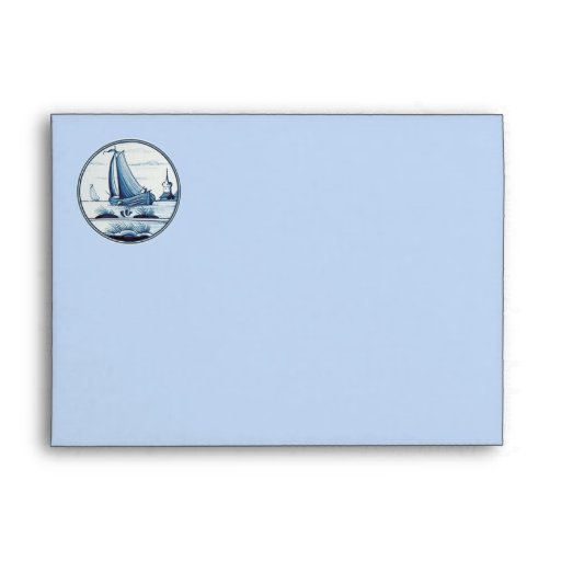 Teja azul tradicional holandesa sobres