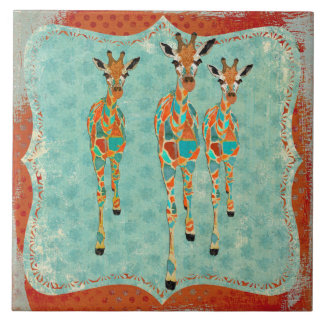Teja azul y ambarina de las jirafas