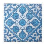 Teja blanca azul del arte de Delft del vintage