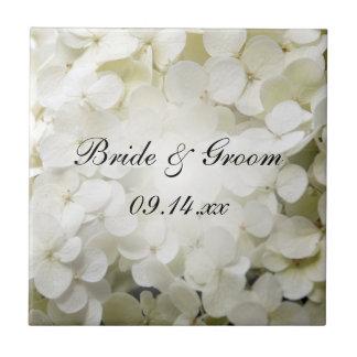 Teja blanca del boda del Hydrangea
