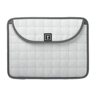 Teja blanca funda para macbooks