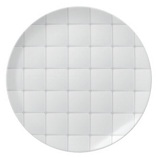 Teja blanca platos para fiestas