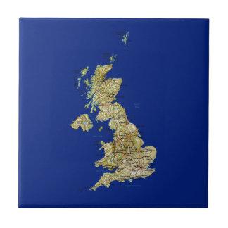 Teja BRITÁNICA del mapa