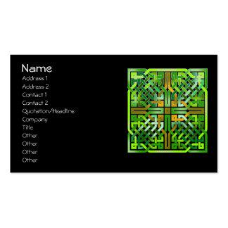 Teja céltica verde 174 del nudo tarjetas de visita