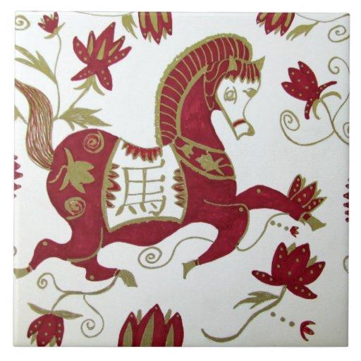 Teja china de la astrología del caballo