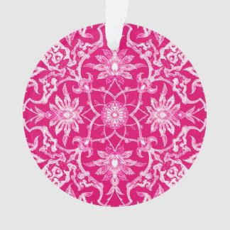 Teja china de Nouveau del arte - rosa de Fuschia