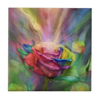 Teja color de rosa curativa de la bella arte