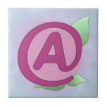 """Teja color de rosa rosada de """"A"""""""