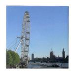 Teja con la noria del ojo de Londres