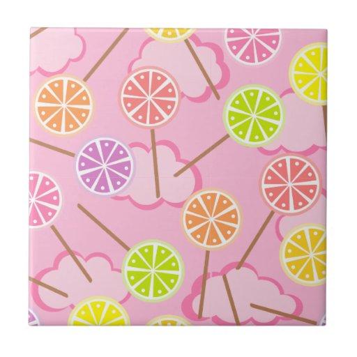Teja con sabor a fruta rosada de los Lollipops