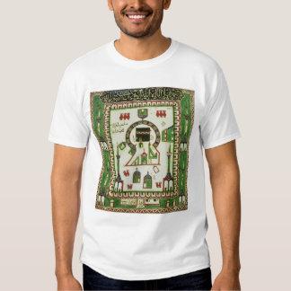 Teja con una representación de La Meca Camisas