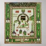 Teja con una representación de La Meca Posters