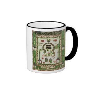 Teja con una representación de La Meca Taza De Café