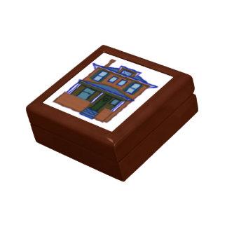 Teja cuadrada del arte cuatro joyero cuadrado pequeño