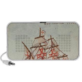 Teja de Azulejos que representa una nave, de Sagre Notebook Altavoz