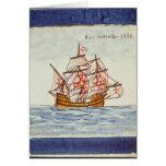 Teja de Azulejos que representa una nave, de Sagre Tarjeton