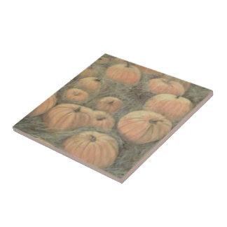 Teja de cerámica de la foto de la calabaza