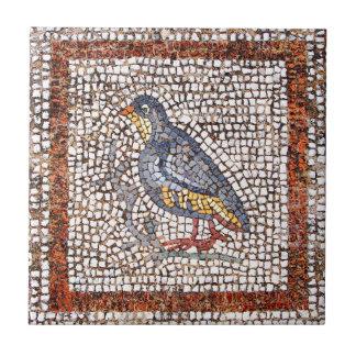 Teja de cerámica de Trivet del mosaico del pájaro