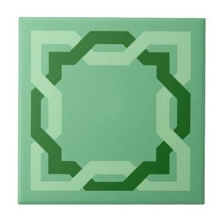Teja de cerámica del decorador del verde céltico