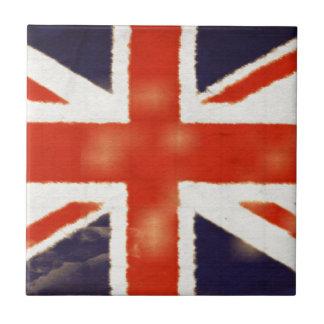 Teja de cerámica del regalo de Union Jack del vint