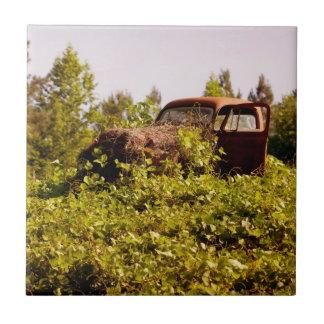 Teja de cerámica grande de la foto del camión del