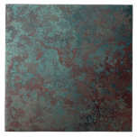 """Teja """"de cobre"""" de la impresión de la corrosión gr"""