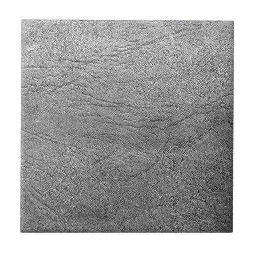 Teja de cuero gris gris