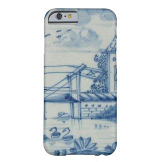 Teja de Delft que muestra un puente levadizo sobre Funda De iPhone 6 Barely There
