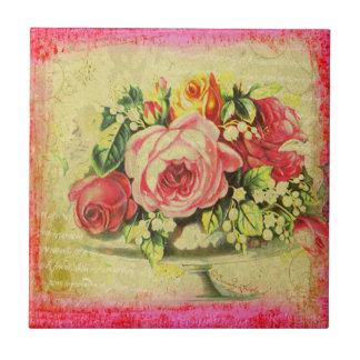 Teja de encargo del arte del collage de los rosas