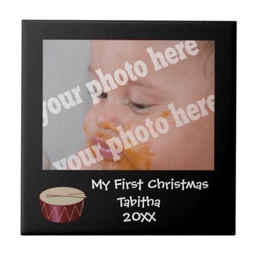 Teja de encargo del marco de la foto del primer ta