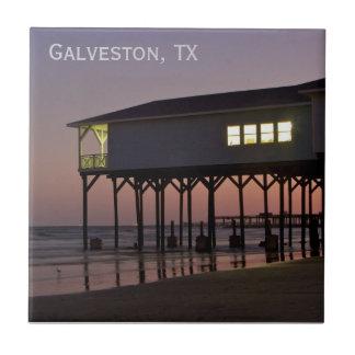 Teja de Galveston de la casa del frente de océano