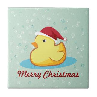 Teja de goma amarilla del duckie de las Felices Na