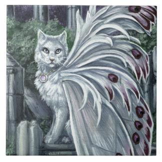 Teja de hadas blanca del gato de la belladona