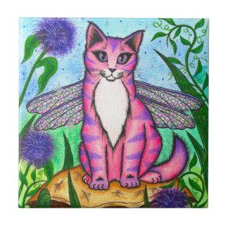 Teja de hadas del arte de la fantasía del gato de
