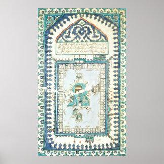 Teja de Iznik con una representación de La Meca Póster