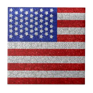 Teja de la bandera americana del vintage