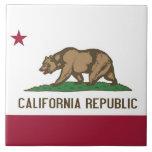 Teja de la bandera del estado de California