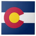 Teja de la bandera del estado de Colorado