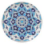 Teja de la cerámica de las flores azules y blancas plato para fiesta
